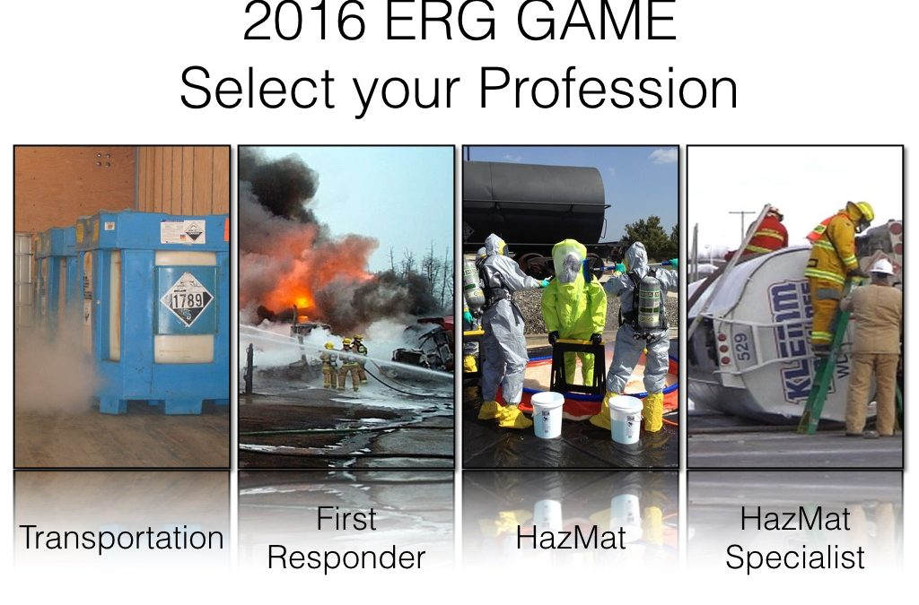 2016 Emergency Response Guidebook Video, PowerPoint and Game